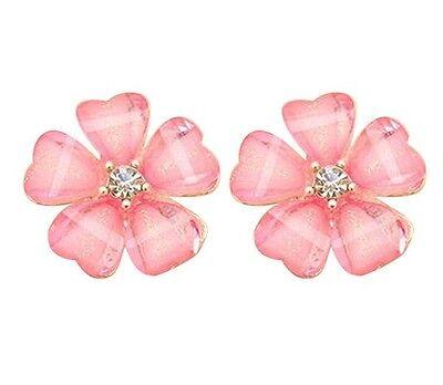 Fashion Women Crystal Rhinestone Pearl Ear Stud Earrings 925 Silver Sterling