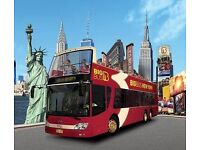 "New York City ""Big Bus Tour"" Two Day Hop-On-Hop-Off Ticket x 2"