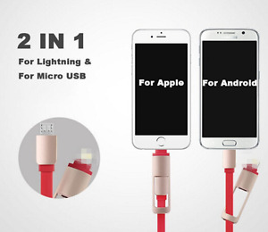 2 in 1 Retractable Lightning and USB (iPhone and Android)