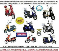 ****Best Selection of Electric Scooters and Bicycles in B.C.***