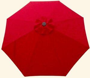 Red 9' Patio Umbrella