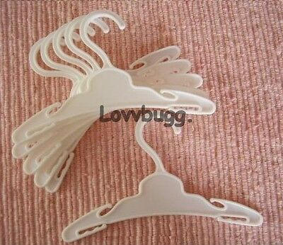 Lovvbugg 10 Hangers for 18 inch American Girl or My Twinn Doll Clothes Accessory