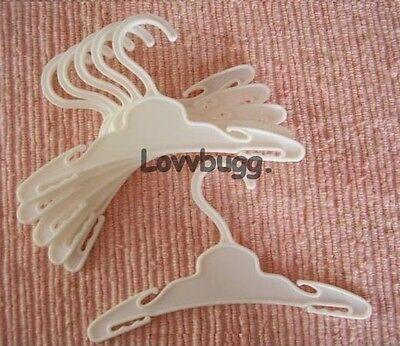"""Lovvbugg 6 White Hangers for 18"""" American Girl Doll Accessory"""