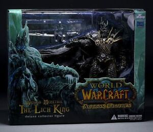 22CM WORLD OF WARCRAFT WOW ARTHAS MENETHIL LICH KING DELUXE STATUE ACTION FIGURE