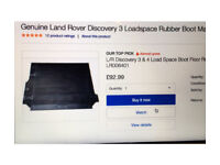 Genuine Land Rover Discovery 3 or 4 loadspace rubber mat, hardly used