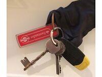 FOUND keychain + santander fob ( keychain found ) ( keychain lost ) found key chain - key chain lost