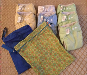Bumgenius cloth diapers and wet bags