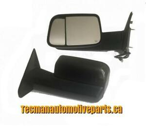 Towing mirrors trailer tow mirrors for Dodge ram 2010 - 2018 Power heated Smoked signals