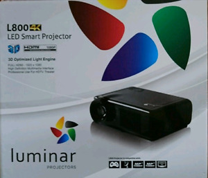 Full HD 1080p LED projector with screen