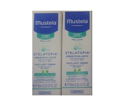 Mustela Stelatopia Emollient Cream, 0.33 Oz (Pack of 2)