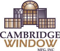 Cambridge Window Mfg. is looking for an experienced door fabric