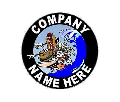 2 - 12 Personalized Fast Food Cart Or Truck Decals With Your Company Name