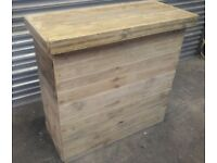 JD Handmade Party Home Bar from Recycled Reclaimed Pallet Wood 109 x 47 x101 cm