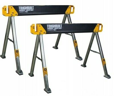 ToughBuilt TOU-C550 Metal Saw Horse / Jobsite Table Sawhorse Twin Pack - C550