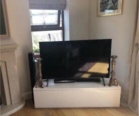 Next white tv unit WF9