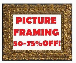 PICTURE FRAMING 50-75%OFF! JERSEY FRAMES+CANVAS FRAMING+POSTERS