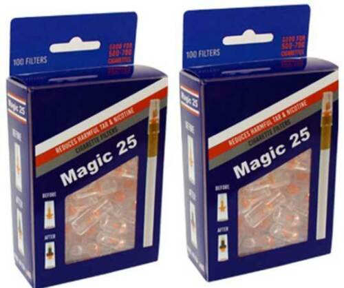 2 x MAGIC25 100 FILTERS VALUE PACK - 2 PACKS - TOTAL 200 TIPS