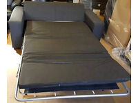 New/Transport Damaged Fabric Sofa Bed - Charcoal. -Can deliver-