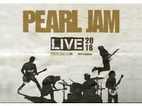 1 ticket Pearl Jam- 17 Jul 2018 - London O2