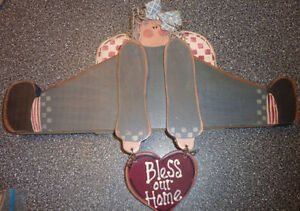 3 Wooden 'Bless Our Home' decors $ 3 each Kitchener / Waterloo Kitchener Area image 2