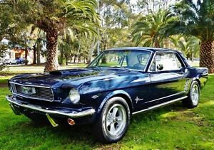 1966 Ford Mustang Blue 3 Speed Automatic Hardtop Hendon Charles Sturt Area Preview