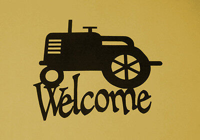 Tractor Welcome sign, County, Gift, Metal Art, Barn, Farmer, FARM SCENE, Welcome for sale  Shipping to India