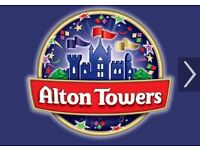 Two Alton Towers tickets 22nd August