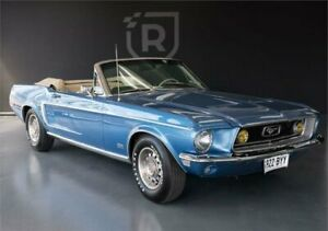 1968 Ford Mustang GT Blue Manual Convertible Adelaide CBD Adelaide City Preview