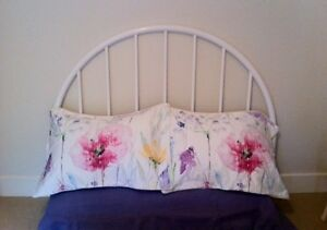 Double Headboard White - Excellent Condition