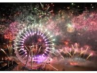 NEW YEARS EVE FIREWORKS TICKETS NYE - RED AREA x 4