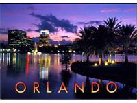 2 flights to Orlando, Florida from Gatwick.