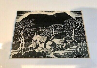 Meryl Watts (artist) -Borth-y-Gest, Snowdonia, Framed & Glazed