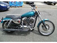 Harley Sportster 1200 - Vance & Hines exhaust. Looks great, sounds amazing.