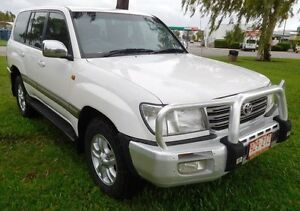 2003 Toyota Landcruiser HDJ100R Sahara White 5 Speed Automatic Wagon Hidden Valley Darwin City Preview