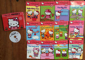 12 HELLO KITTY PHONICS BOOKS Boxed Set $10