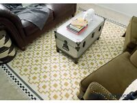 IKEA Alvine Ruta Rug - Wool Yellow Grey