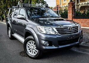 2013 Toyota Hilux KUN26R MY14 SR5 Double Cab Grey 5 Speed Automatic Utility Medindie Walkerville Area Preview