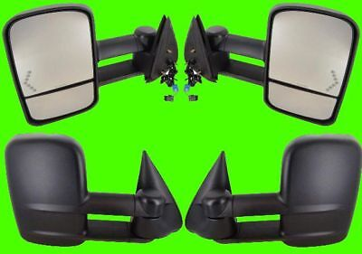 New PAIR SIDE MIRRORS SILVERADO HD 03 04 05 POWER HEATED W/SIGNAL TOW FOLD OUT