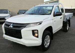 2019 Mitsubishi Triton MR MY19 GLX White 6 Speed Manual Cab Chassis Lilydale Yarra Ranges Preview