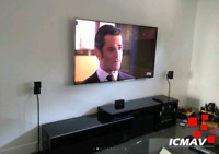 Installation TV / Branchement haut-parleur / Calibration TV