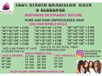 Brazilian / Peruvian Hair / Closures And Frontals