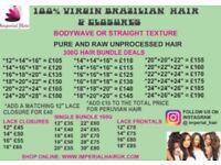Virgin Brazilian / Peruvian Hair / Closures And Frontals