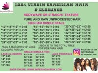 Virgin Brazilian / Peruvian Hair / Closures And Frontals