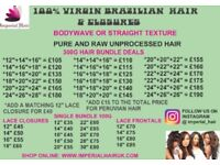 Virgin Brazilian / Peruvian Hair And Closures