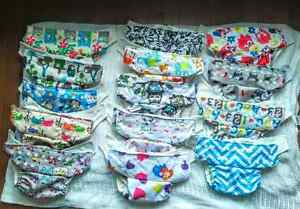 14 OS Kawaii pocket diapers