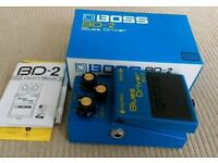 Boss BD-2 Blues Driver Clean Boost / Overdrive Guitar Pedal