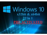 Windows 10 Recovery Repair Restore disc 32bit & 64bit (22 in 1)