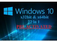 Windows 10 Recovery Repair Restore disc 32bit & 64bit (22 in 1)