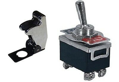 1 Pc Dpst Safety Toggle Switch 20amp125vac Chrome Cover 66-180466-5012