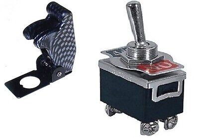 1 Pc Dpst Safety Toggle Switch 20amp125vac Carbon Cover 66-180466-5014